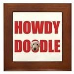 Howdy Goldendoodle Framed Tile