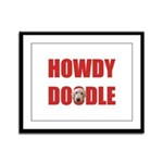 Howdy Goldendoodle Framed Panel Print
