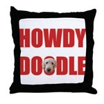 Howdy Goldendoodle Throw Pillow