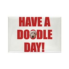 Doodle Day Goldendoodle Rectangle Magnet