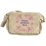 Mom Birthday, Pretty Pink, Purple. Messenger Bag