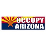 Occupy Arizona protest Bumper Sticker