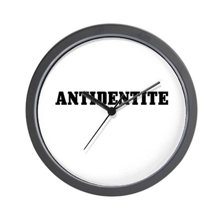 Antidentite Wall Clock