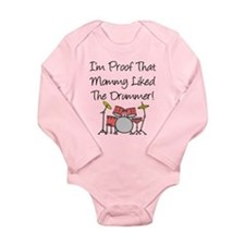 Proof That Mommy Liked Drumme Onesie Romper Suit