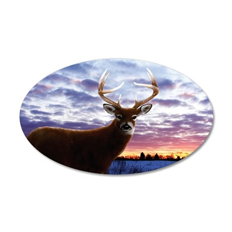 Whitetail Sunrise 38.5 x 24.5 Oval Wall Peel