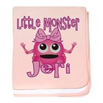 Little Monster Jeri baby blanket