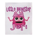 Little Monster Jeri Throw Blanket