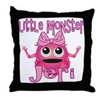 Little Monster Jeri Throw Pillow
