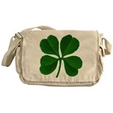 Lucky Four Leaf Clover Irish Messenger Bag