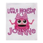 Little Monster Joanne Throw Blanket