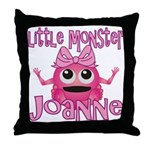 Little Monster Joanne Throw Pillow