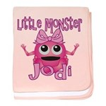 Little Monster Jodi baby blanket