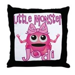 Little Monster Jodi Throw Pillow