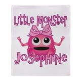 Little Monster Josephine Throw Blanket