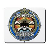 USN Navy Chiefs Backbone of the Fleet Mousepad