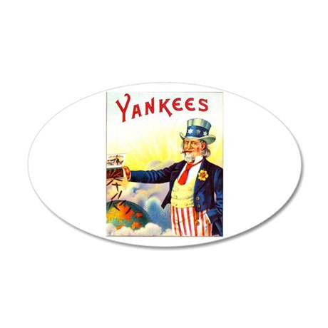 Yankees Cigar Label 22x14 Oval Wall Peel
