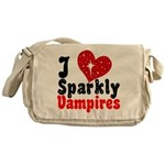 I Love Sparkly Vampires Messenger Bag
