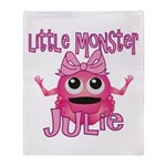 Little Monster Julie Throw Blanket