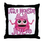Little Monster Julie Throw Pillow