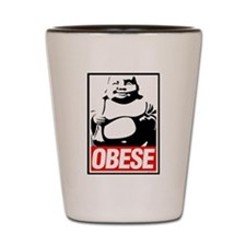 'Obese' Shot Glass