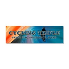 TOP Cycling Slogan Car Magnet 10 x 3
