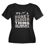 Honey Badger Thing Women's Plus Size Scoop Neck Da