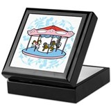 Carousel Pink and Blue Keepsake Box