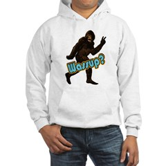 Bigfoot Sasquatch Yetti Wassup Hooded Sweatshirt