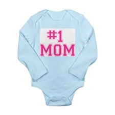 #1 MOM Long Sleeve Infant Bodysuit
