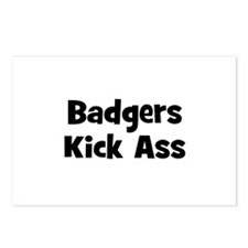 Badgers Kick Ass Postcards (Package of 8)