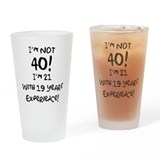 40th Birthday Fun Drinking Glass