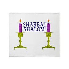 Shabbat Shalom! Throw Blanket