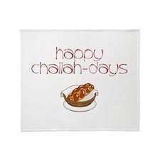 Happy Challah-Days Throw Blanket