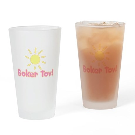Boker Tov Drinking Glass