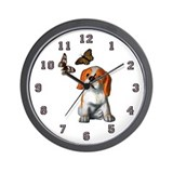 Pup and Butterfly's Wall Clock