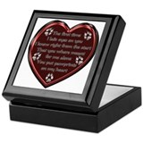 Pawprint Memory Keepsake Box