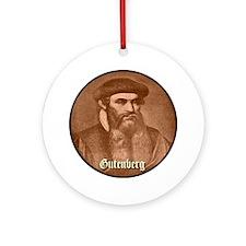 Gutenberg Ornament (Round)