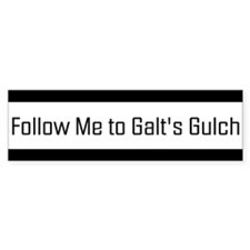 Follow me to Galt's Gulch - Bumper Car Sticker Car Sticker