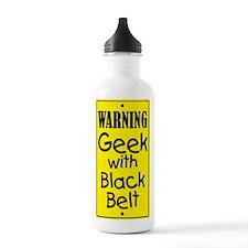 Warning Geek w/Black Belt Water Bottle