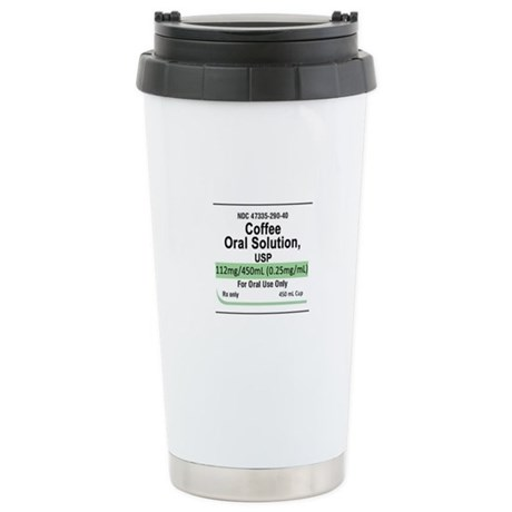 Coffee Oral Solution, USP - Ceramic Travel Mug