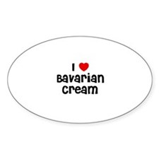 I * Bavarian Cream Oval Decal