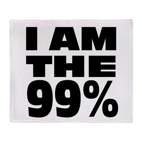 I Am The 99% Throw Blanket