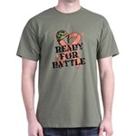 Ready Battle Uterine Cancer Dark T-Shirt