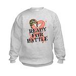 Ready Battle Uterine Cancer Kids Sweatshirt