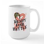 Ready Battle Uterine Cancer Large Mug