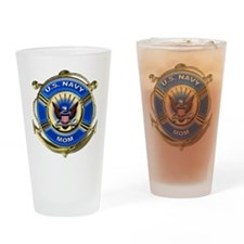 USN Navy Mom Drinking Glass