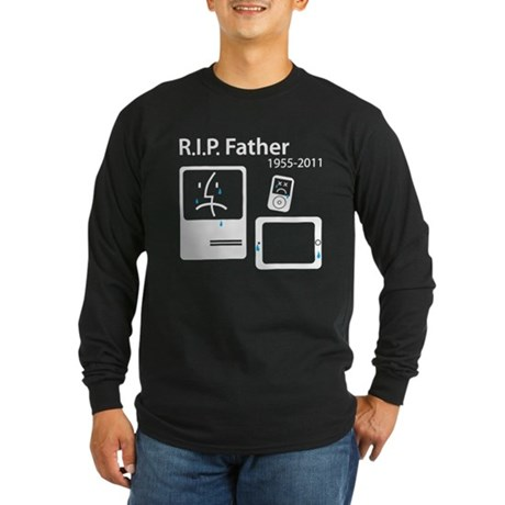 R.I.P. (in memory of Steve Jobs) Long Sleeve Dark