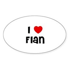 I * Flan Oval Decal