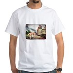 Castle Greyhound White T-Shirt