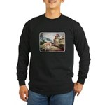Castle Greyhound Long Sleeve Dark T-Shirt